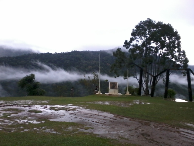 Clouds and mountains in Central Province