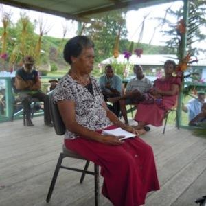 Sarah Sau Hiari - Oral History interview recorded on 23 May 2014 at Kokoda Station, Northern Province, PNG